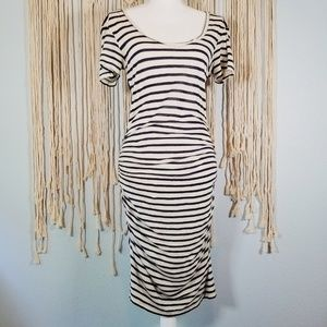 Velvet by Graham & Spencer Saffron Striped Dress S